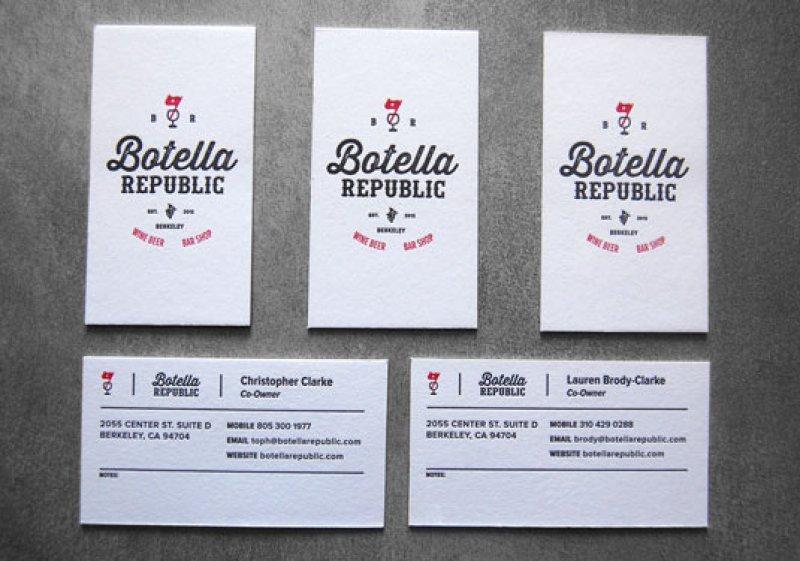 Botella Republic Business Cards